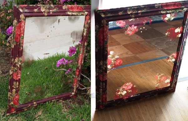 Обновление старого зеркала своими руками 70