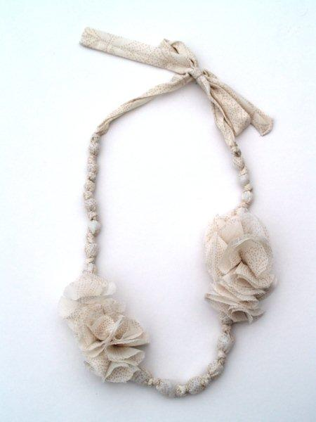 bead and fabric necklace
