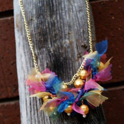 Anthro Pretty-In-Pinking Knockoff Necklace