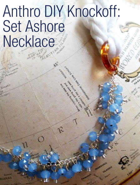 Anthro DIY Set Ashore Necklace
