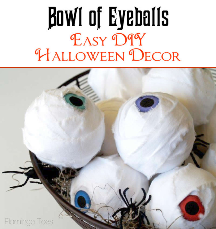 Halloween Bowl of Eyeballs