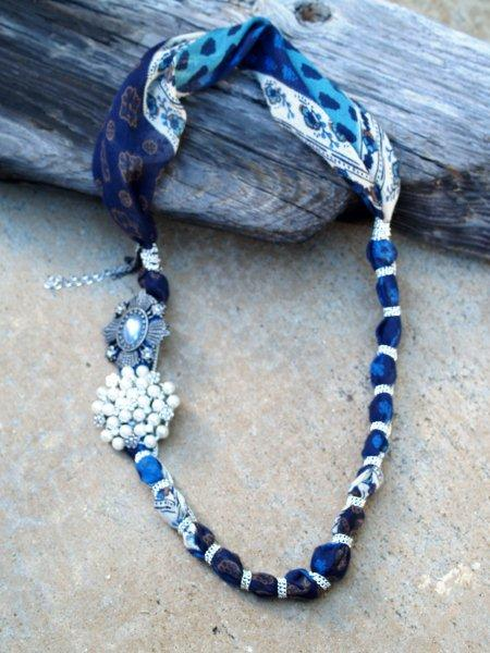 Anthro Paisley Rebirth Necklace