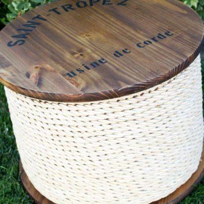 Ballard Knockoff Spool Side Table