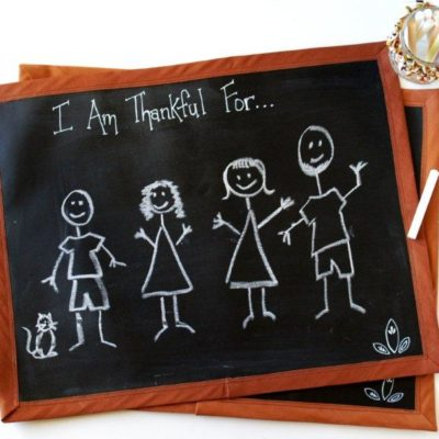 Thanksgiving Chalk Cloth Placemats