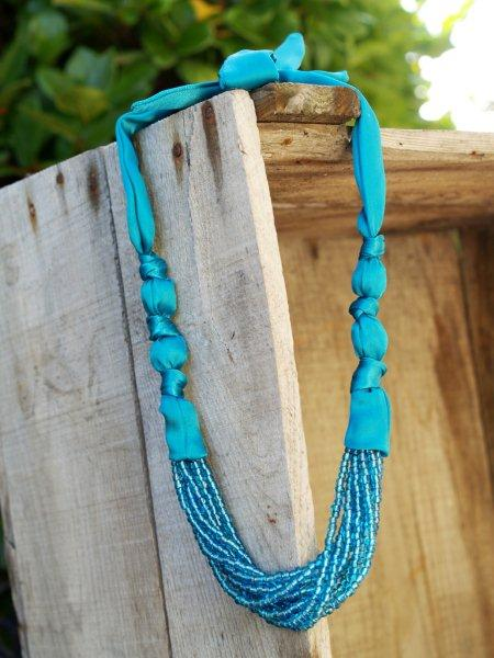 necklace made of silk and bead tutorial