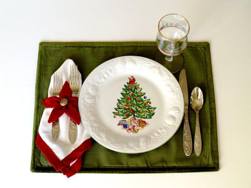 poinsettia placemats and napkins - Christmas Placemats And Napkins