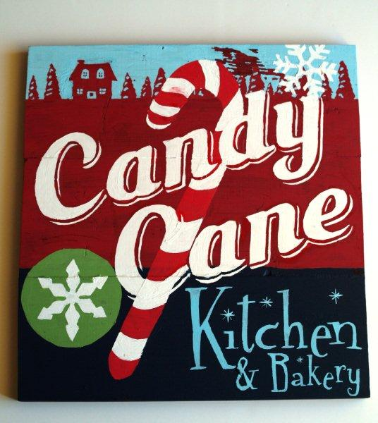 candy cane sign
