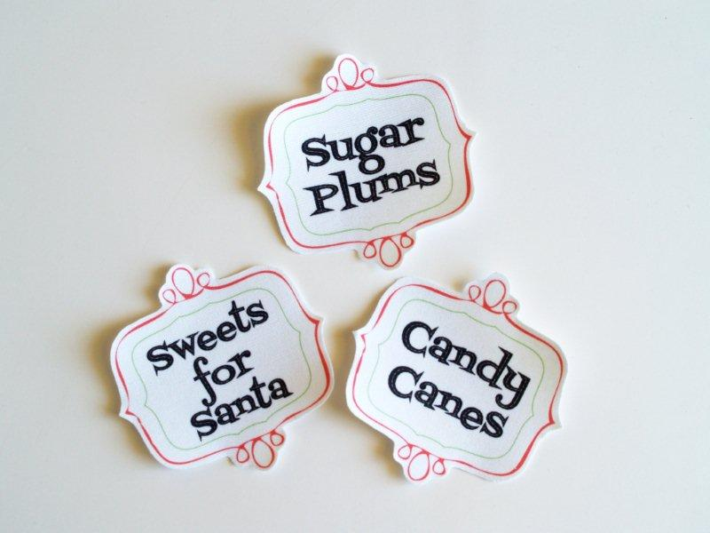 Fabric Candy Labels