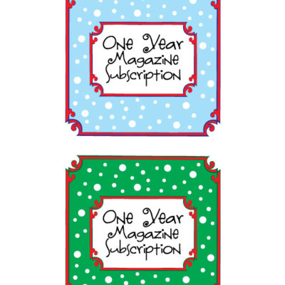 Magazine Gift Subscription Printable!