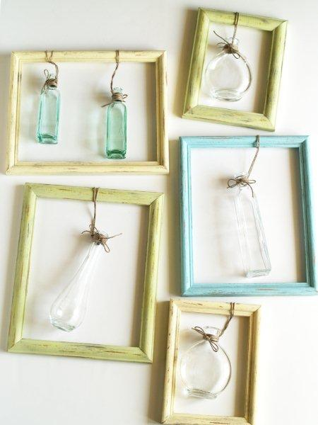 Hanging Bottles in Frames