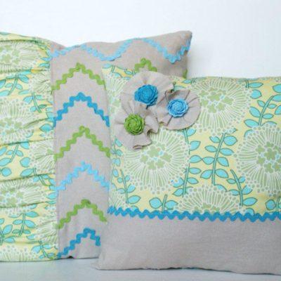 Spring Zig Zag Ric Rac Pillows