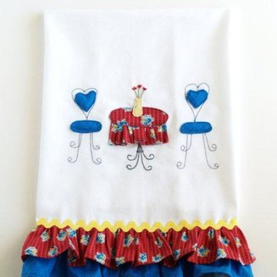 Patriotic Summer Ruffles Set – Dishtowel