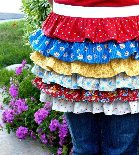 Patriotic Summer Ruffles Set – Apron!!