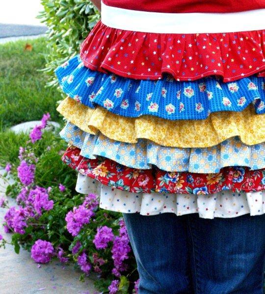 Patriotic Summer Ruffles Set – Apron!!