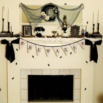 Halloween Mantel Reveal!