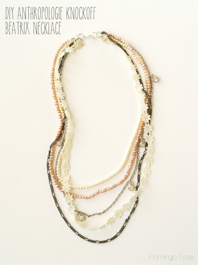 DIY Anthropologie Knockoff Beatrix Necklace
