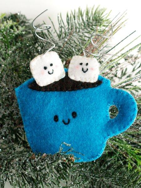 Felt Hot Cocoa Ornament