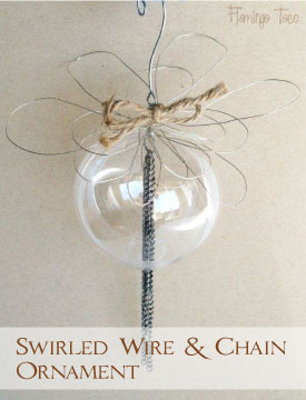 Swirled Wire & Chain Ornament