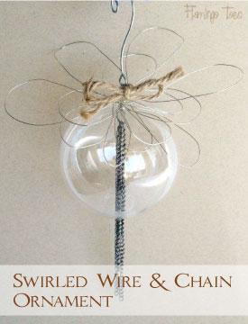 Swirled Wire & Chain Ornament