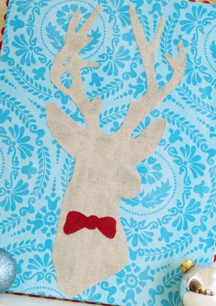 Stylish Christmas Deer Silhouette