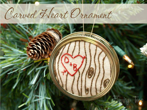 Carved Heart Ornament