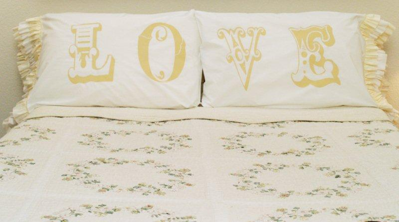 """Love"" Knockoff Pillowcases"