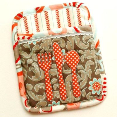 """Let's Eat"" Potholder"