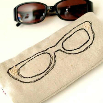 Sketchy Sunglasses Case