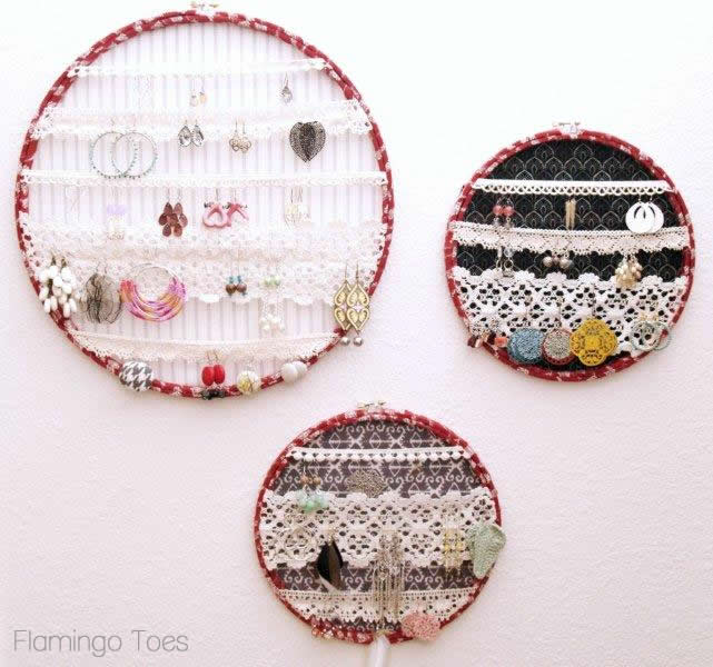 Hoops and Lace Earring Display