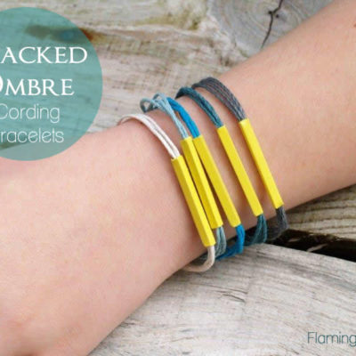 Stacked Ombre Cording Bracelets