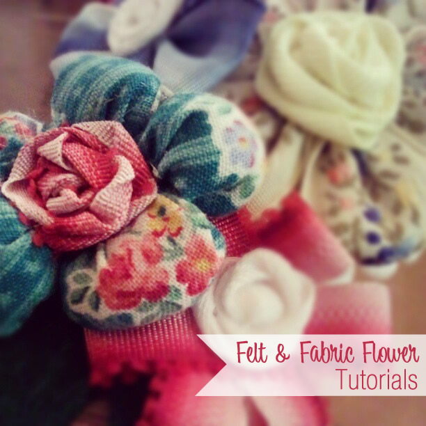 Fabric and Felt Flowers & Bows -