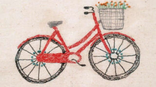 Sketchy Retro Bicycle Dishtowel