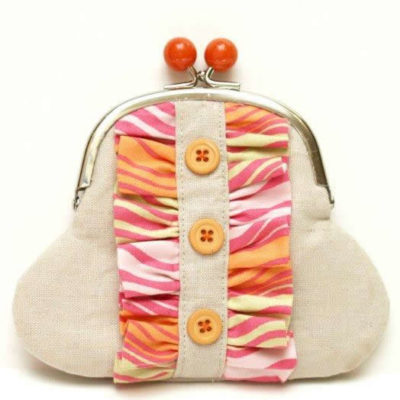 Linen & Ruffles Coin Purse