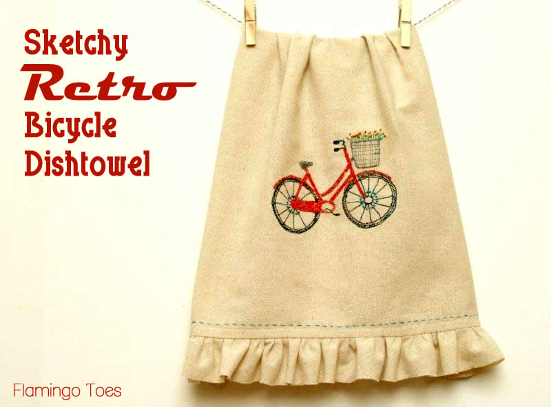 Sketchy Bicycle Dishtowel