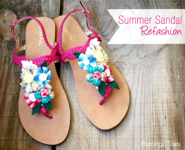 Summer Sandal Refashion