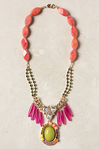 Anthro Mirela Fringe Necklace Knockoff