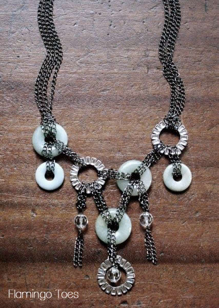 Anthro Chained Disk Bib Necklace Knockoff