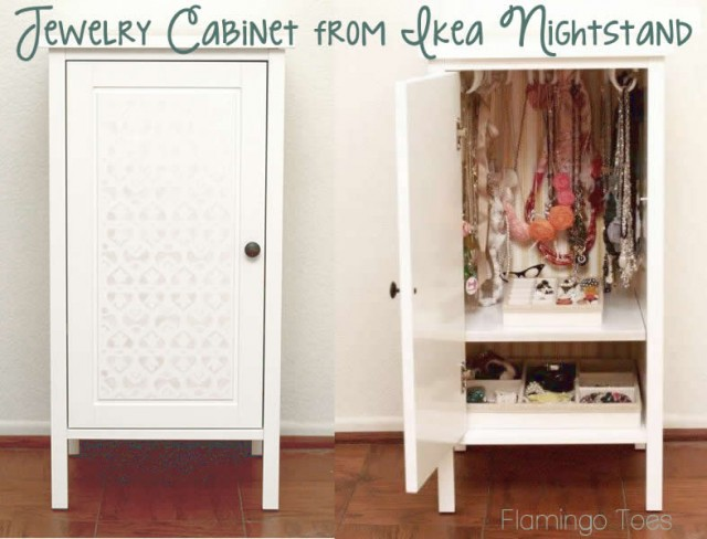 Ikea Nightstand To Jewelry Cabinet