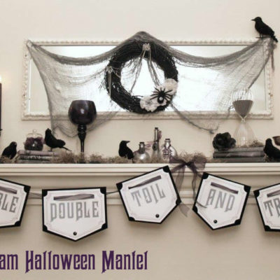 Witchy Glam Halloween Mantel