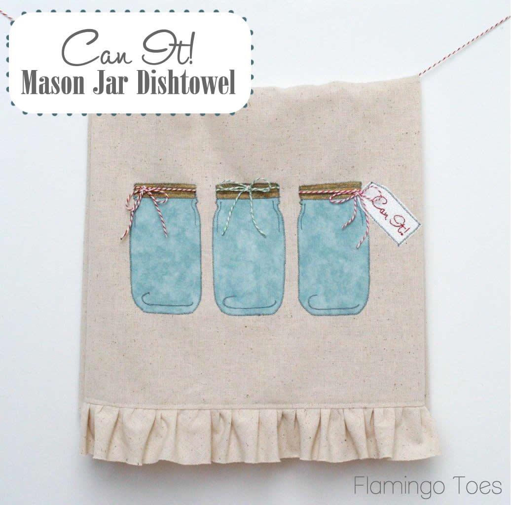 Can It! Mason Jar Dishtowel