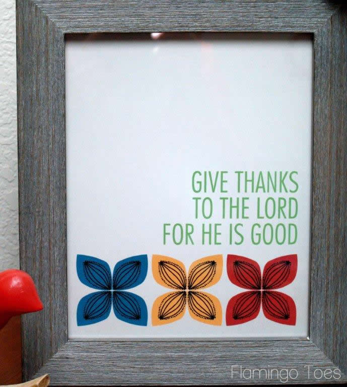 Retro Giving Thanks Prints