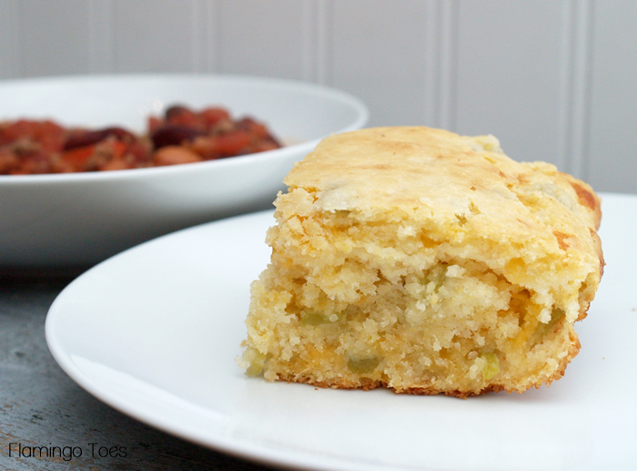Green Chili & Cheese Cornbread