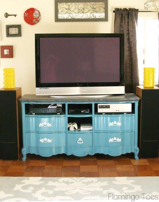 Turquoise Entertainment Center
