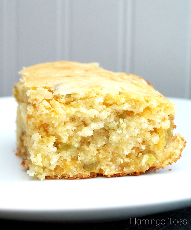 Super Moist Green Chile and Cheese Cornbread