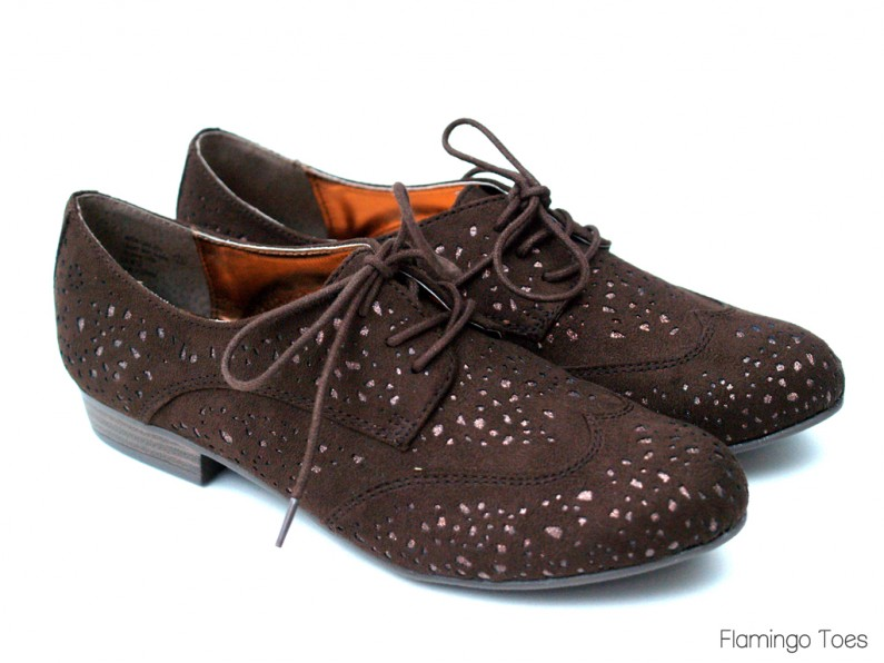 Brown Suede Oxford Refashion