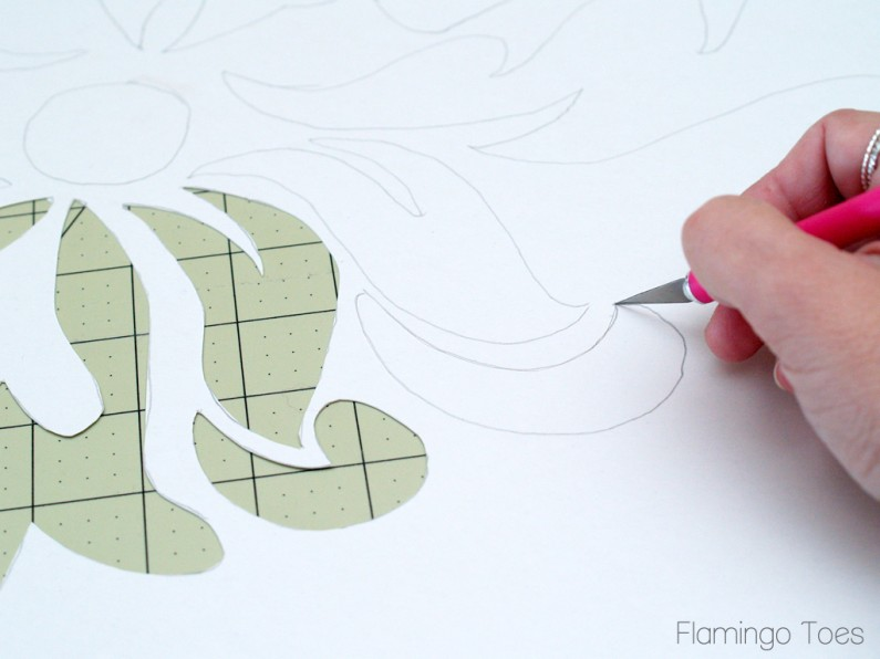 Cutting out a Large Stencil