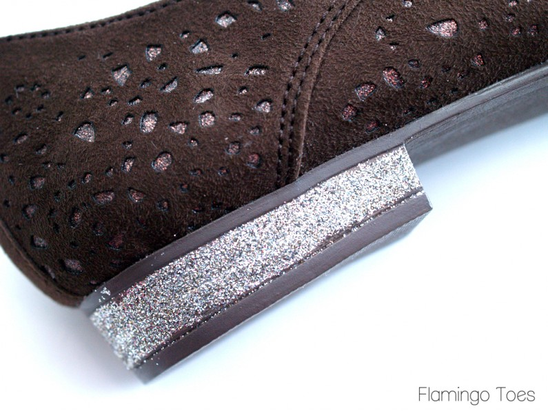 Glitter Heels on Shoes
