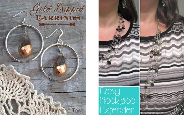 Simple Gold Dipped Earrings