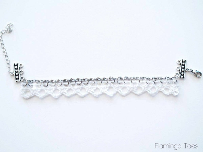 Lace and Chain for bracelet