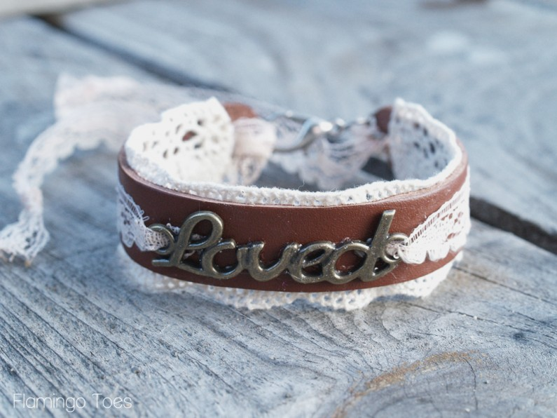 Lace and Leather Bracelet